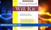 FREE PDF  Simplified Will Kit: Prepare Your Own Will Without Using a Lawyer (Simplified Will Kit
