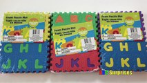 ABC and 123 Alphabet Letter and Number Foam Puzzle Mat Learn ABC How to Count Learn Colors for Kids