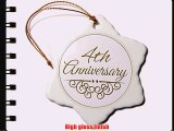 3dRose orn_154446_1 4Th Anniversary Gift Gold Text For Celebrating Wedding Anniversaries 4