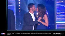 Money Drop : Christophe Beaugrand et Leila Ben Khalifa s'embrassent en direct