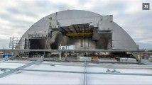 Tchernobyl : inauguration du dôme de confinement de la centrale nucléaire