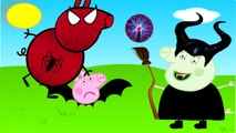PJ Masks and Peppa pig has become a bat wicked witch Finger Family Nursery Rhymes Lyrics Parody
