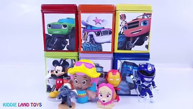 Power Rangers Blaze and the Monster Machines DIY Cubeez Play-Doh Toy Surprise Learn Colors Episodes