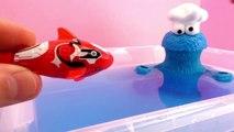 Animaux amicaux avec les poissons robots et le monstre qui dévore tout – Tinti poisson robot tortue