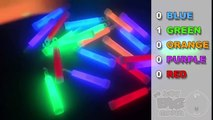 Learn Colours with Glow in the Dark Sticks and Star Wands! Fun Learning Challenge