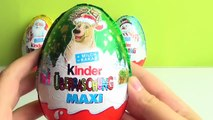4 x Big Kinder MAXI Surprise Eggs Santa Claus Christmas Edition The Peanuts my Little Pony unboxing