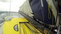 J24 : Manoeuvre compliquée mais réussie pour Thomas Ruyant / Vendée Globe