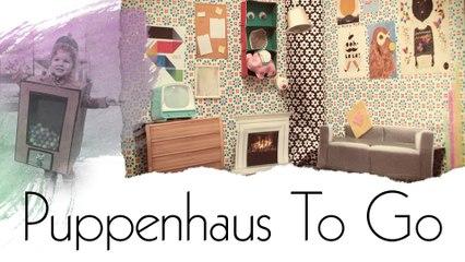 Puppenhaus im Aktenordner - Handmade