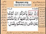 Quran in urdu Surah AL Nissa 004 Ayat 058A Learn Quran translation in Urdu Easy Quran Learning