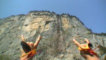 OldVHS Footage of Shane McConkey BASE Jumping Lauterbrunnen