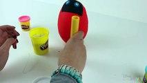 Disney Frozen Big Surprise Egg PLAY DOH Making & Opening Ladybug Eggs Funny Plasticine Creation
