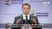 Santos confirme 6 survivants du crash aérien