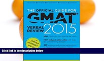Pre Order The Official Guide for GMAT Verbal Review 2015, With Online Question Bank and Exclusive