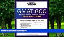 Best Price Kaplan GMAT 800, 2006-2007 (Kaplan GMAT Advanced) Kaplan On Audio