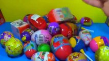 80 Surprise Eggs Kinder Surprise SpongeBob Toy Story Cars Spider man Hello Kitty MARVEL Heroes