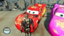 Disney Pixar Cars Nursery Rhymes Lightning McQueen Grey Deadpool and Spiderman cars Nursery Rhymes
