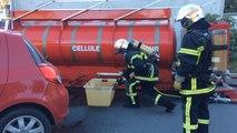 Exercice des pompiers : une fuite à MerAlliance