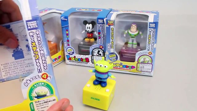 Mundial de Juguetes & Tomy Disney Pop n Step Melody Music Box Toy story, Mickey mouse Toys