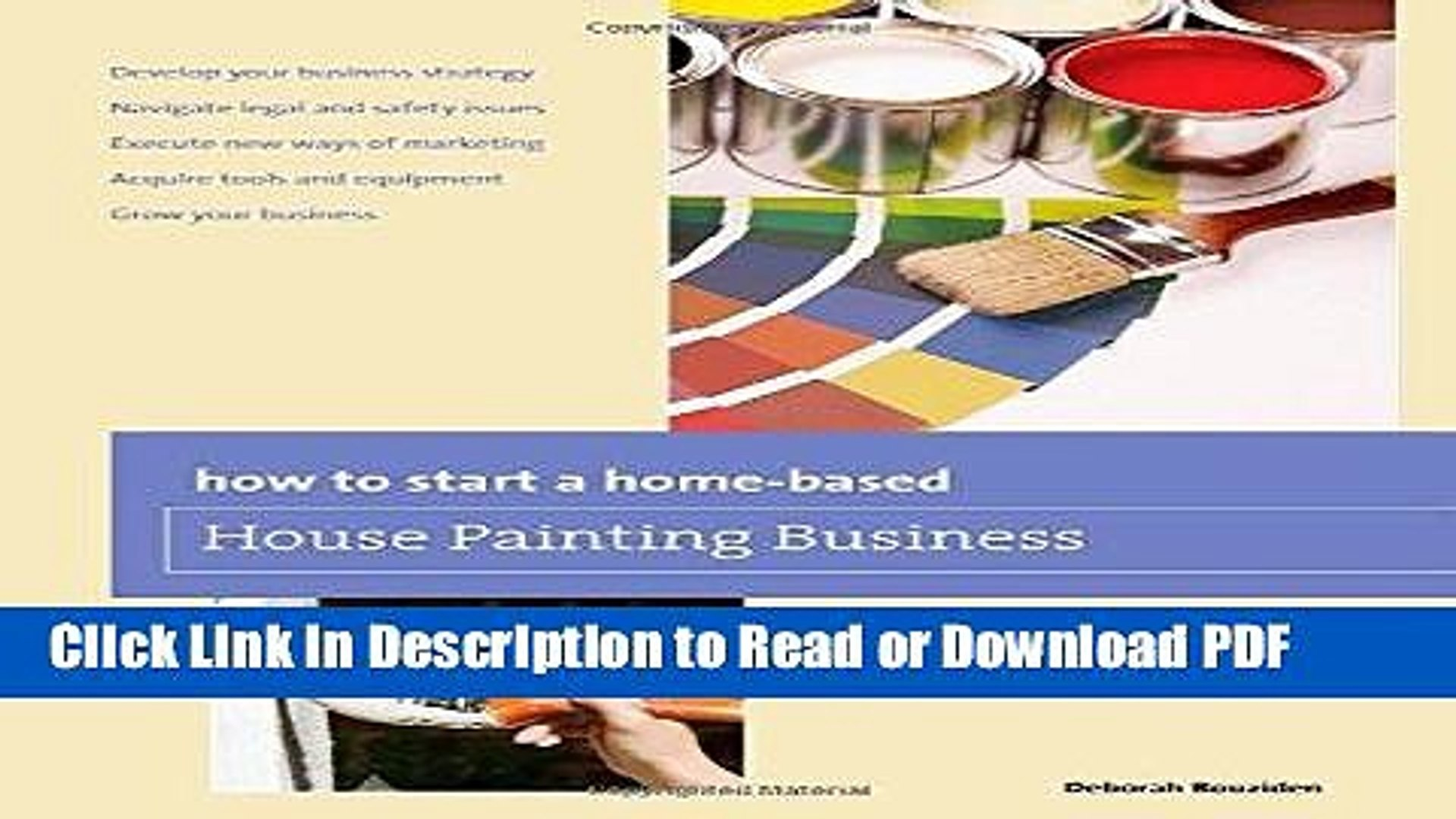 PDF How to Start a Home-based House Painting Business (Home-Based Business  Series) Free Books