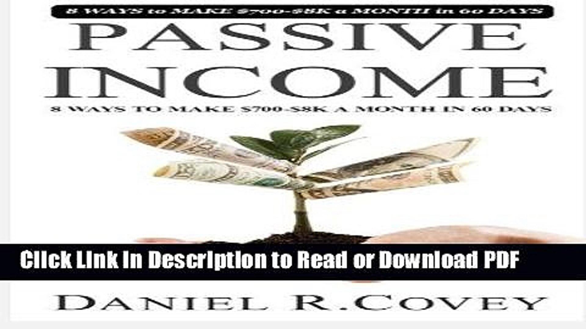 Read Passive Income: The Ultimate Guide to Make Passive Income and Master Sales Techniques