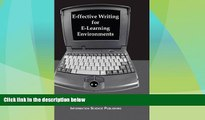 Best Price E-ffective Writing for E-Learning Environments (Cases on Information Technology) Katy