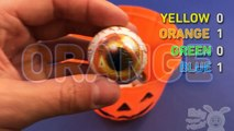 Learn Colours with Halloween Toys! Fun Contest with Eyes & Pumpkin!