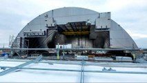 Chernobyl nuclear site enclosed by dome to prevent leaks