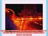 CBConcept® 120VLR25FT-O Orange 25 Feet 110V-120V 2-Wire 1/2 LED Rope Light 1.0 LED Spacing