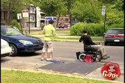 Man in Wheelchair Miraculously Walks Again! - Just For Laughs Gags