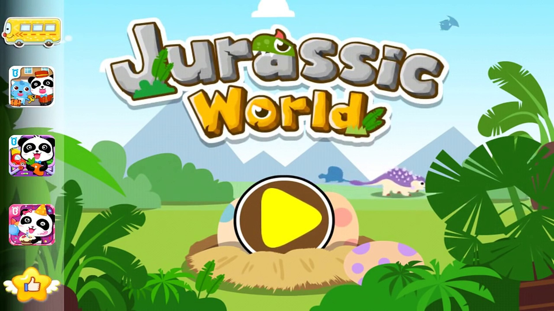 Jurassic World Dinosaurs (By BabyBus) Kids learn Dinosaurs With Education - Games for Kids