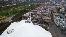 Le chantier de Muse survolé par drone (Sequence Production)