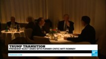 """US - President-elect Trump dines with Mitt Romney  - """"do opposite ultimately attract?"""""""