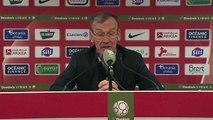 Réaction de Jean-Marc Furlan et Jean-Louis Garcia après Stade Brestois 29 - ESTAC Troyes