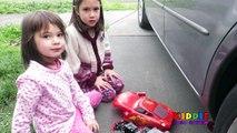 CARELESS DAD Crushes Lightning McQueen Under Car, Tow Mater Crushed Under Car, Tow Mater Toys, Cars