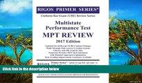 Buy Mr. James J. Rigos Rigos Primer Series Uniform Bar Exam (UBE) Multistate Performance Test