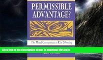 Pre Order Permissible Advantage? The Moral Consequences of Elite Schooling (Sociocultural,