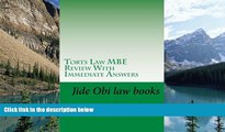 Online Jide Obi law books Torts Law MBE Review With Immediate Answers: Jide Obi law books for the