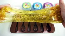 DIY How To Make Colors Glitter Slime Spoon Ice Jelly and Colors Chocolate Candy Baby Doll