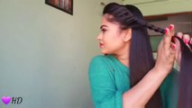 Hairstyles for medium to long hair _Rope waterfall half updo _ Indian party hairstyles