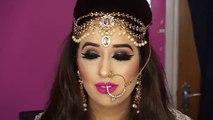 Nikaah Asian Bridal Makeup _ Bold Eyes And Bright Pink Lips _ Arabic Makeup