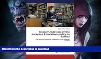 Read books  Implementation of the Inclusive Education policy in Samoa: The policy of Inclusive