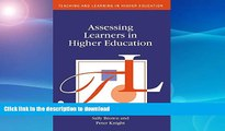 Best books  Assessing Learners in Higher Education (Teaching and Learning in Higher Education)