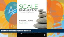 Best books  Scale Development: Theory and Applications (Applied Social Research Methods)