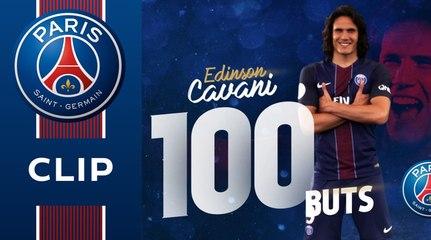 Les 100 buts de Cavani en infographie