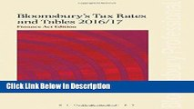 Download Bloomsbury s Tax Rates and Tables 2016/17: Finance Act Edition Epub Full Book