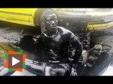 Un voleur de pièces autos ligoté et enduit d'huile de moteur à Koumassi Remblais