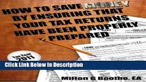 Download How To Save Money By Ensuring That Your Tax Returns Have Been Properly Prepared Audiobook