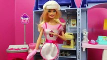 Barbie Dessert Chef I Can Be Career Barbie and Pet Kitty Cat Bakery DisneyCarToys