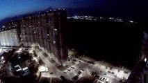 Extreme POV urban BASE jumping footage