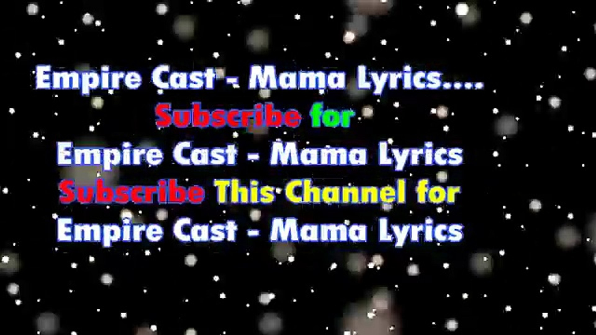 Empire Cast - Mama Lyrics (Stripped Down Version)